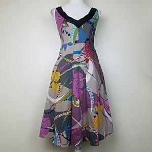 Anthropologie Maeve Floral A line Dress Size 6